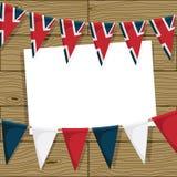Decoración británica del empavesado Imagen de archivo libre de regalías