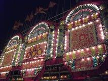 Decoración Cantonese tradicional en Kowloon del oeste, Hong Kong imágenes de archivo libres de regalías