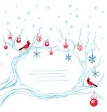 Decoración cardinal del brunch del pájaro de la Navidad Foto de archivo