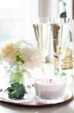 Decoración casera de la boda Foto de archivo libre de regalías