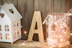 Decoración casera de la Navidad Imágenes de archivo libres de regalías