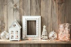 Decoración casera de la Navidad Fotografía de archivo libre de regalías
