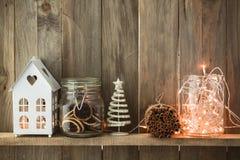 Decoración casera de la Navidad Fotos de archivo