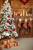 Decoración casera de la Navidad Foto de archivo