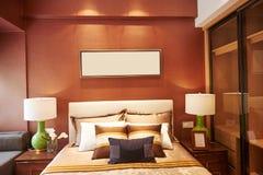 Decoración casera de lujo del dormitorio Fotografía de archivo