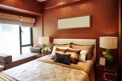 Decoración casera de lujo del dormitorio Imagen de archivo