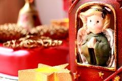 Decoración casera para la Navidad Fotografía de archivo
