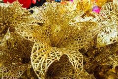 Decoración china Asia del Año Nuevo de la rosa del oro Fotos de archivo