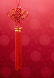 Decoración china de la ejecución del nudo Imagenes de archivo