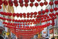 Decoración china de la linterna del Año Nuevo de la calle Fotos de archivo libres de regalías