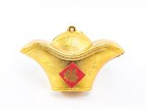 Decoración china de la materia de oro por Año Nuevo chino Imagen de archivo