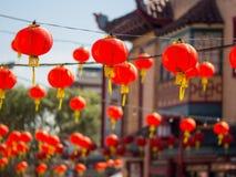 Decoración china del Año Nuevo de la ciudad de China Fotos de archivo libres de regalías