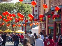 Decoración china del Año Nuevo de la ciudad de China Imagenes de archivo