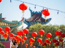 Decoración china del Año Nuevo de la ciudad de China Imágenes de archivo libres de regalías