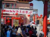 Decoración china del Año Nuevo de la ciudad de China Foto de archivo libre de regalías