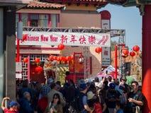 Decoración china del Año Nuevo de la ciudad de China Fotografía de archivo libre de regalías