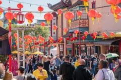 Decoración china del Año Nuevo de la ciudad de China Imagen de archivo