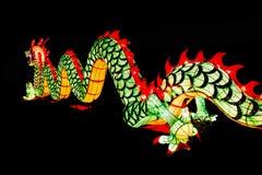 Decoración china del Año Nuevo--Primer del dragón colorido encendido Foto de archivo