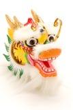 Decoración china del dragón del Año Nuevo en blanco. Imagen de archivo libre de regalías