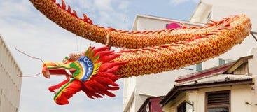 Decoración china del dragón del Año Nuevo en Chinatown Imagen de archivo libre de regalías