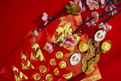 Decoración china del festival del Año Nuevo Fotografía de archivo libre de regalías