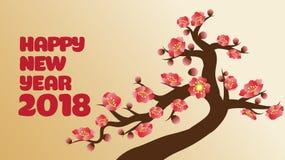 Decoración china del ` s del Año Nuevo para el festival de primavera del flor Fotos de archivo libres de regalías