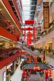 Decoración china hermosa del Año Nuevo en la alameda de Sunway Putra foto de archivo