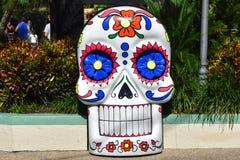 Decoración colorida de Halloween en los jardines Tampa de Bush imagen de archivo libre de regalías