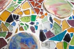 Decoración colorida de la casa Batllò Gaudì Barcelona España Fotografía de archivo libre de regalías