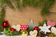 Decoración colorida de la Navidad Imagen de archivo libre de regalías