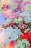 Decoración colorida de la tabla de la boda imagenes de archivo