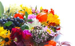 Decoración colorida de la tabla en otoño Imágenes de archivo libres de regalías