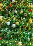 Decoración colorida del árbol de navidad Fotografía de archivo