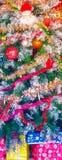 Decoración colorida del árbol de navidad Imagen de archivo