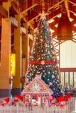 Decoración colorida del árbol de navidad Foto de archivo libre de regalías
