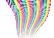 Decoración colorida del arco iris ilustración del vector