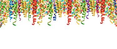 Decoración colorida del partido de la bandera de la flámula del confeti Fotos de archivo libres de regalías