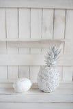 Decoración con las frutas en la madera blanca Imágenes de archivo libres de regalías