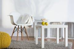 Decoración contemporánea de la sala de estar espaciosa Foto de archivo libre de regalías