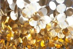 Decoración de círculos brillantes de oro Imagen de archivo