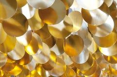 Decoración de círculos brillantes de oro Fotografía de archivo libre de regalías