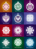 Decoración de encaje de la Navidad del copo de nieve del vector Fotografía de archivo libre de regalías