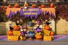 Decoración de Halloween en un parque temático Imagen de archivo