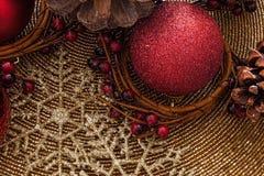 Decoración de Holly Christmas Imagenes de archivo
