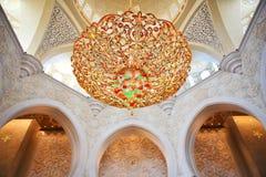 Decoración de jeque Zayed Mosque. Abu Dhabi Imagen de archivo