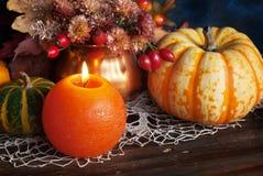 Decoración de la acción de gracias del otoño Fotos de archivo