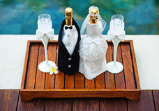 Decoración de la boda imagen de archivo