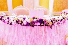 Decoración de la boda Foto de archivo