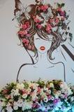 Decoración de la boda, arreglos florales Decoraciones de la ceremonia de boda Foto de archivo