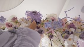 Decoración de la boda de la ceremonia almacen de metraje de vídeo